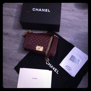 CHANEL Calfskin Quilted Boy
